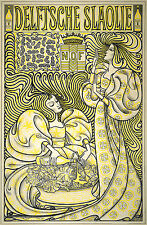 "Jan Toorop : ""Poster for Delft Salad Oil"" (1894) — Giclee Fine Art Print"
