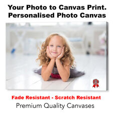 "Your Photo Picture Canvas Print - Personalised Canvas Ready to Hang 8"" x 12"" A4"