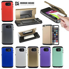 Samsung Galaxy & Apple Mirror Dual Layers Shock Proof Phone Case Cover All Model
