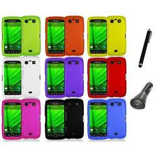 Color Hard Rubberized Case Cover+Charger+Pen for Blackberry Torch 9850 9860