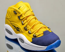 Reebok Question Mid All-Star men retro basketball lifestyle shoes NEW yellow