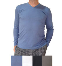4 x Men's Bamboo long-sleeve T-shirts available 4 colours + Fast & Free Postage!