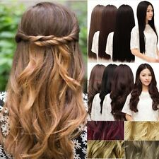 UK Long Curly Straight Ombre Full Wig Cosplay Party Daily Dress Black Brown AO