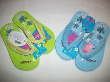 """""""CLOSEOUT"""" 1 pr Youth Casual Sandals/Flip Flops Size 12, 1, 2, 3 NWT Blue/Green"""