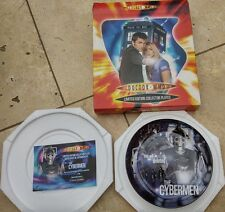 Dr Who Limited Edition Collector Plates- The Cybermen & The Adventures of Dr Who