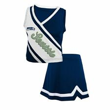 NWT NFL Team Apparel Seattle Seahawks Toddler Girls Cheerleader Set: Size 2T-4T