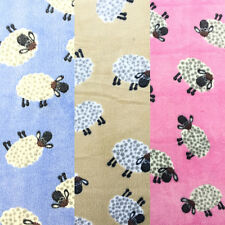 """Sheep Super Soft Cuddle Fleece Fur Fabric Crafts, Blanket By the Metre 63"""" Wide"""