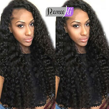 """High Quality 12""""-24"""" Deep Curly Lace Front/Full Wig 100% Indian Remy Human Hair"""