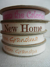 2 mtrs BN Nature's Choice 100% cotton ribbon (Damn The Calories! New Home)