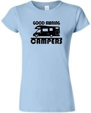 GOOD AWNING CAMPERS - MOTORHOME LADIES FITTED T-SHIRT CAMPING TSHIRT T SHIRT
