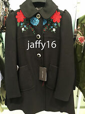 ZARA WOOL COAT WITH AN EMBROIDERED YOKE XS-XL REF. 7640/744