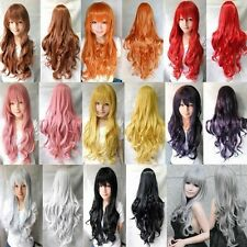 Women's Girl's Multicolor Wigs Long Curly Anime Cosplay Natiral Wig 70cm/28 inch