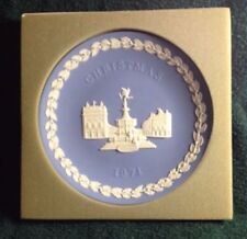 """Wedgwood Jasperware Christmas 1971 Piccadilly Circus 8"""" Plate  Made in England"""