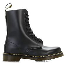 Dr.Martens 1490z Black Smooth Leather Womens 10 Eyelet Boots