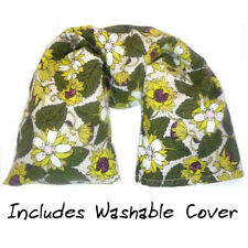 Microwavable Flax Seed Neck Wrap with washable cover - Organic Cotton Strawberry