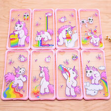 Funny Cute Unicorn Rainbow Cartoon Hard Case Cover for iPhone 5 5S 6 6S 6Plus