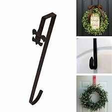 "18 ""Over The Door Brown Wreath Holder Metal Hook Towel Bag Clothes Hanger Decor"