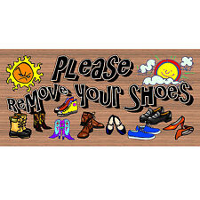 Wood Signs - Handmade Wood Sign - GS 1724- Please Remove Your Shoes plaque