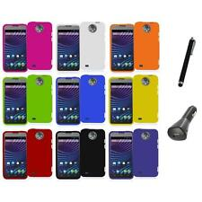 For ZTE Sprint Vital N9810 Hard Snap-On Rubberized Case Cover+Charger+Pen