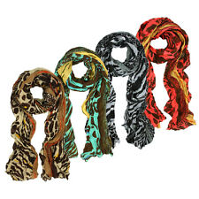 Multi Color Leopard & Zebra Mix Print Tribal Style Scarf - Different Colors Avai