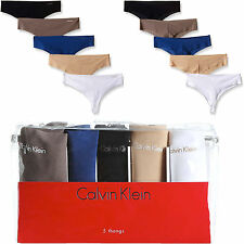 Calvin Klein Invisibles Thong 5-Pack Panties Black Nude Grey Navy White