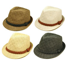 Classic Fedora Straw Hat with Braided Band - Different Colors Available