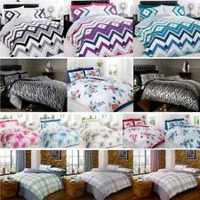 Duvet Quilt Cover Sets with Pillowcases Bedding Bed Linen Striped Floral Animal