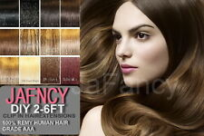 """15"""" DIY Weft Clip in Remy Human Hair Extensions All Colours"""