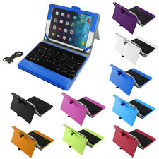 Wireless bluetooth Keyboard Foldable PU Leather Stand Case Cover for iPad 2 3 4