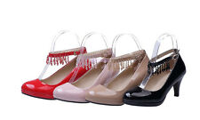 Womens Ladies Ankle Straps High Heels Sandals OL Causal Shoes Pumps US Size Z497