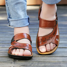 latest summer fashion men's leather sandals, open-toed sandals slippers