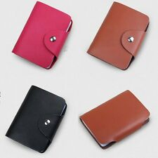 Soft Leather Credit ID Business Card Holder Pocket Purse Wallet Case 26 Cards