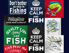 Men's Fishing Tee Shirt Fishermen Fish T-Shirt New Free Same Day USA Shipping