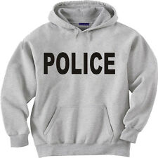 Police hooded sweatshirt hoodie Men's size sweat shirt police department