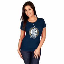 Majestic Jorge Posada New York Yankees Women's Navy Retirement Logo T-Shirt