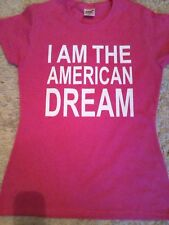 BRITNEY SPEARS AMERICAN DREAM LOGO LADIES FITTED TSHIRT