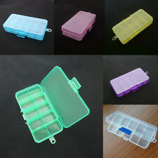1x 10 Compartments Storage Container Plastic Jewelry Bead Organizer Box 3H9
