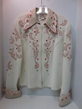 1849 Women's Peach and Cream Western Equitation Show Shirt~ XL, XXL