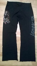 ladies Ed hardy black sweat lounge pants trousers Christian Audigier,  XS small