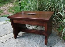 """10"""" tall 11x16 Handcrafted Heavy Duty Wood Step Stool, Bedside Bed Red Mahogany"""