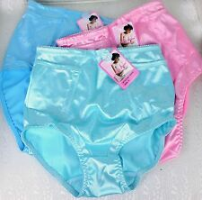 WETLOOK Shiny Satin Sateen lycra nylon brief high cut girdle sissy panties L