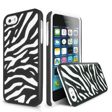 For Apple iPhone SE 5S Zebra Heavy Duty Hybrid Impact Combo Hard Soft Case Cover
