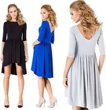 Mini dress Asymmetrical Top Dress 3/4 Sleeve Size S M L XL XXL 3XL, 002