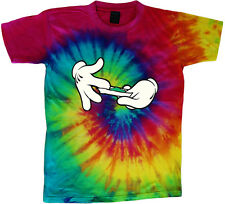 tie dye t-shirt funny weed pot shirt 420 stoner colorful tie dyed tee shirt