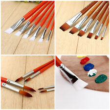 New 6Pcs/Set Artist Nylon Hair Pen Acrylic Oil Paint Brush Set Drawing Painting