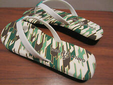 GIRLY GIRL SOUTH BEACH TURQUOISE GREEN FLIP FLOPS SHOES SANDALS DIFFERENT SIZES
