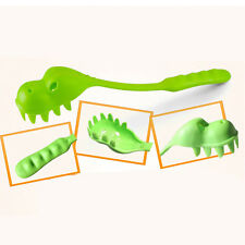 Crocodile Pasta Serving Spoon Fork Dinosaur Pattern Green Spaghetti Green
