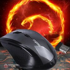 Black/Red USB Wireless Optical 2.4GHz Mouse Cordless Mice for Laptop PC Computer
