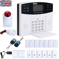 Wireless LCD GSM Home Security Burglar House Siren Alarm System Auto Dialer UK