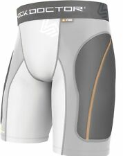 New Shock Doctor Boys Core Padded Baseball Softball Compression Sliding Shorts